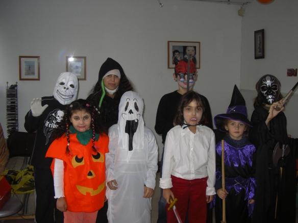 Halloween à la maison.