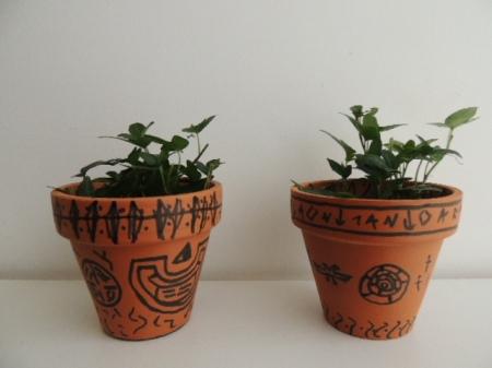 Exemple de créations réalisées par les enfants à l'atelier du musée.