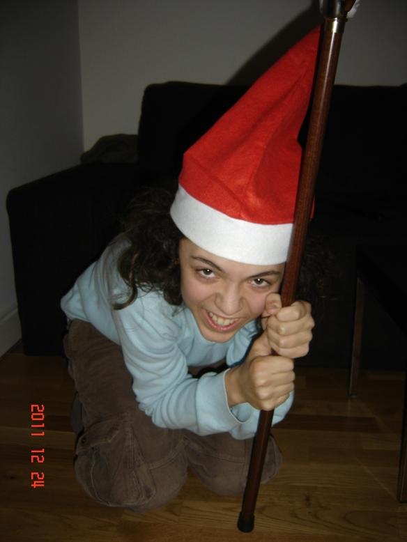 Père Noël pète un plomb.