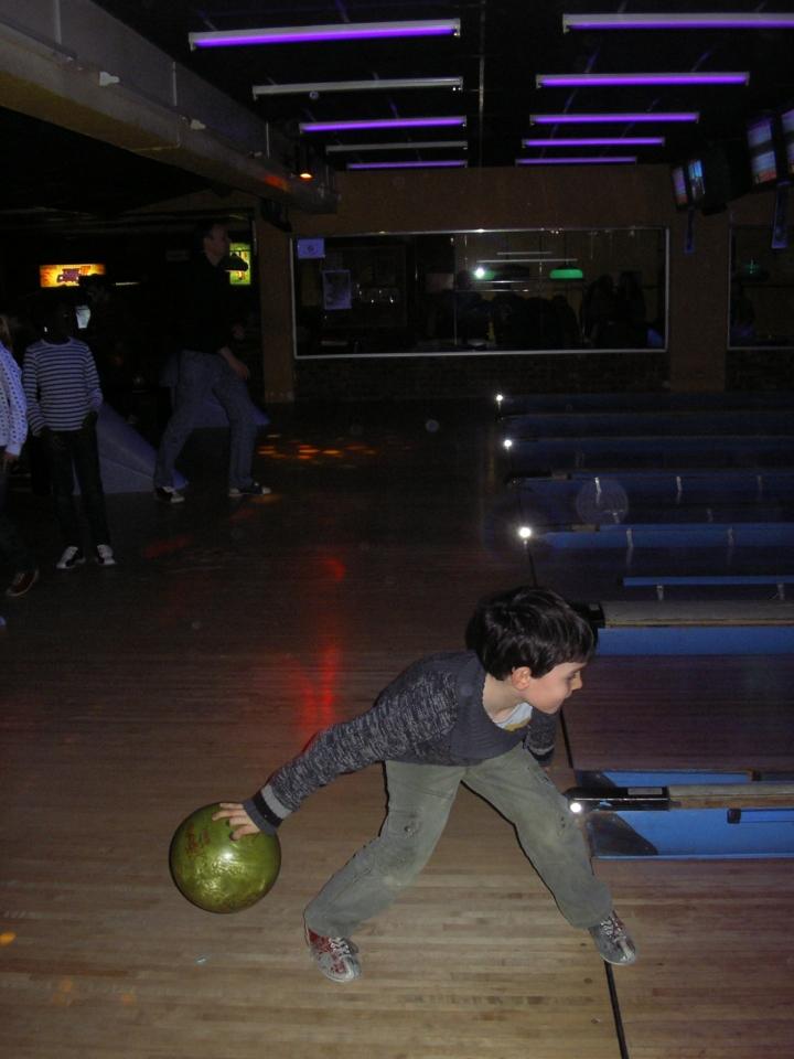 Jules 7 ans au Bowling