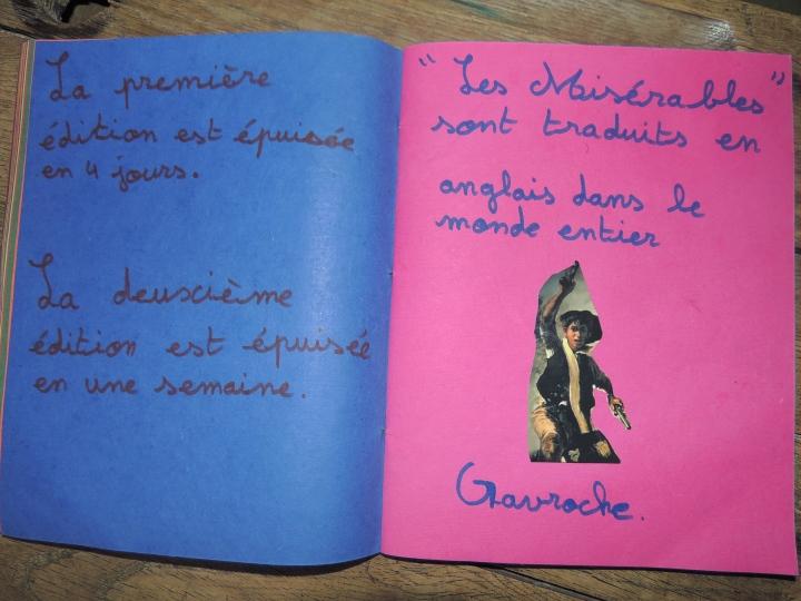Réalisation du cahier Victor Hugo (16)