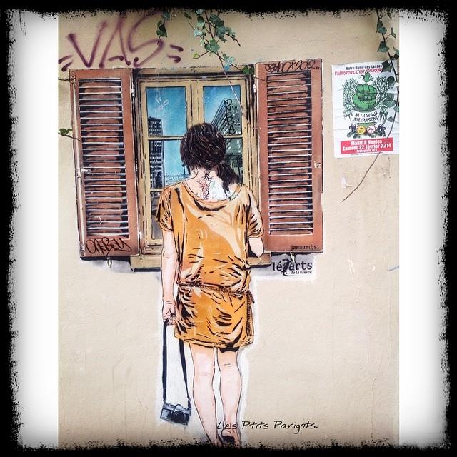 Butte aux Cailles. Street art Paris Zig Zag