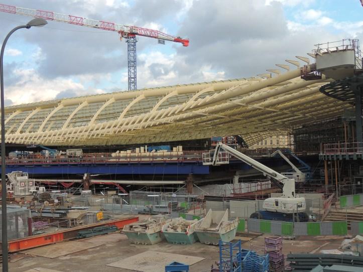 Les Halles en chantier.