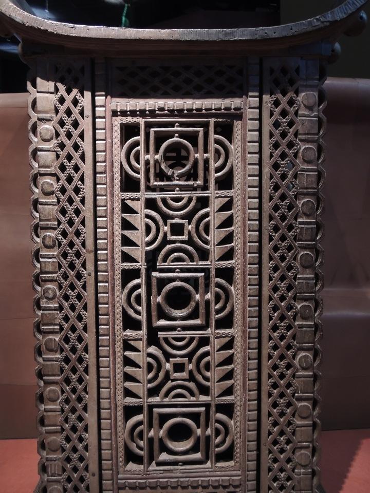 Trône pour la cérémonie dédiée aux rois défunts. Style afro-brésilien.