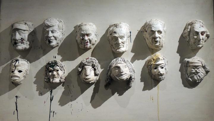 Expo Niki de St Phalle Grand Palais . Masques