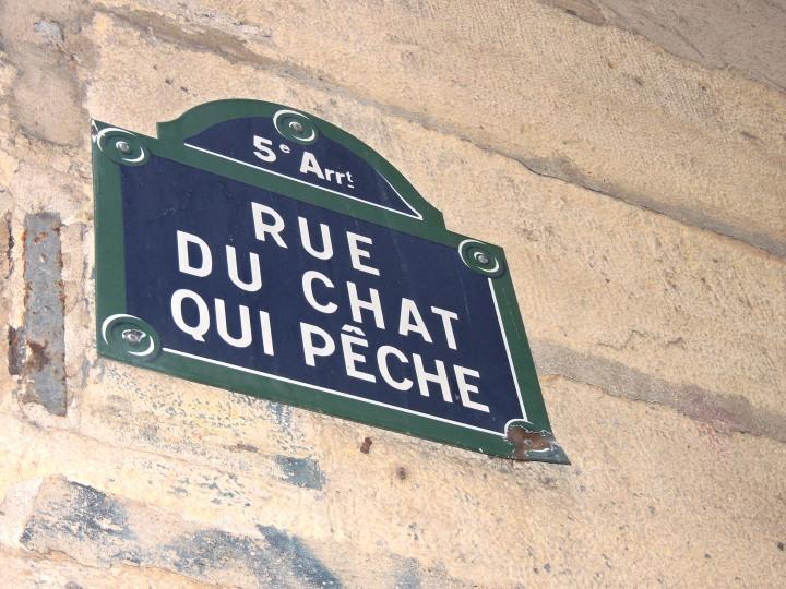 La rue du Chat qui Pêche