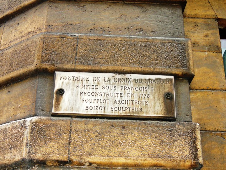 Fontaine de la Croix du Trahoir.
