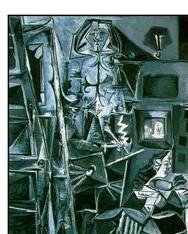 Ménine par Picasso en gris (2)