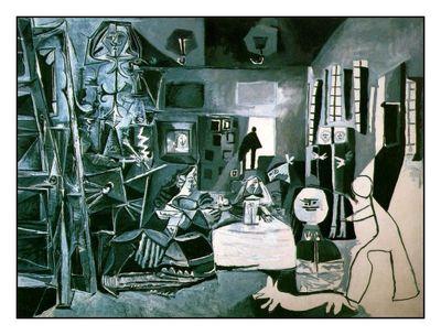 Ménine par Picasso en gris