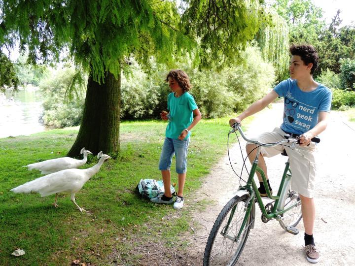 Vincennes juillet 2014 en vélo avec Mehdi.