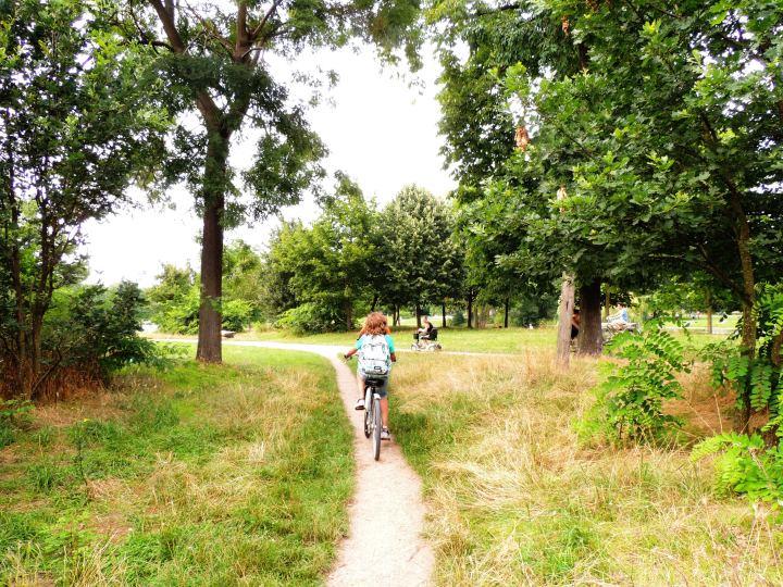 Vincennes juillet 2014 en vélo avec Mehdi
