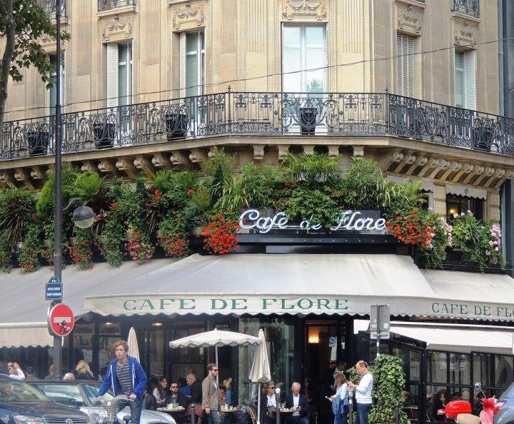 Café de Flore St Germain des Prés.