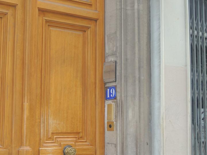 Plaque des numéros de rues