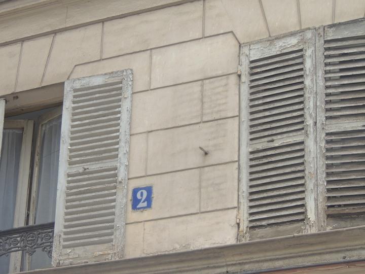 Plaque numéro des rues