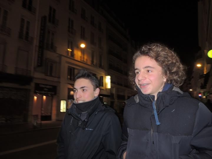 Jardin du Palais Royal Jules et Mehdi 31 décembre 205 (2)