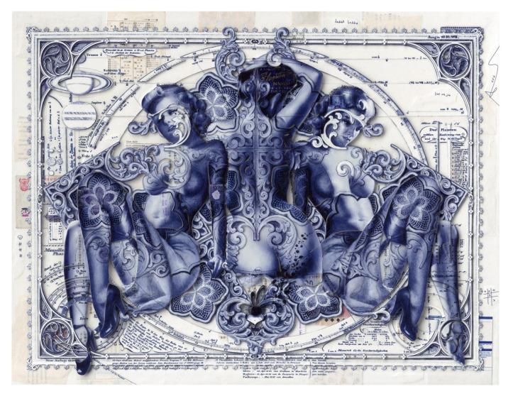 HANDIEDAN. Centuri in blue